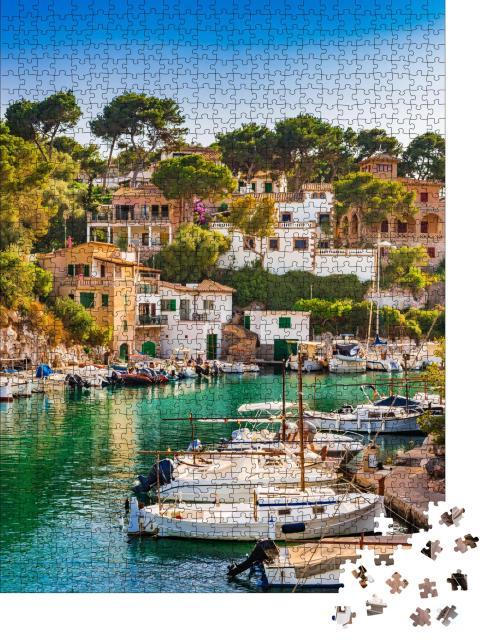 """Puzzle 1000 Teile """"Malerische Bucht Cala Figuera auf Mallorca"""""""