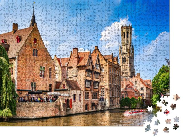 """Puzzle 1000 Teile """"Das Venedig des Nordens, Stadtbild von Brügge, Belgien"""""""