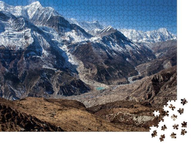 """Puzzle 1000 Teile """"Annapurna-Rundweg, Weg zum Eissee"""""""
