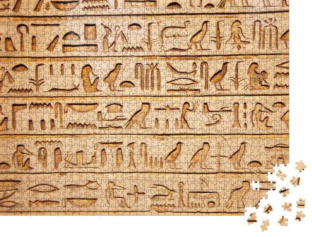 """Puzzle 1000 Teile """"Altägyptische Hieroglyphen"""""""