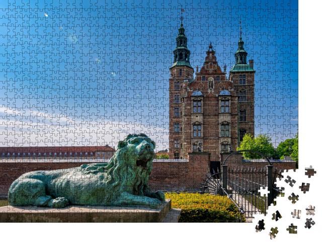 """Puzzle 1000 Teile """"Schloss Rosenborg in Kopenhagen, Hauptstadtregion von Dänemark"""""""