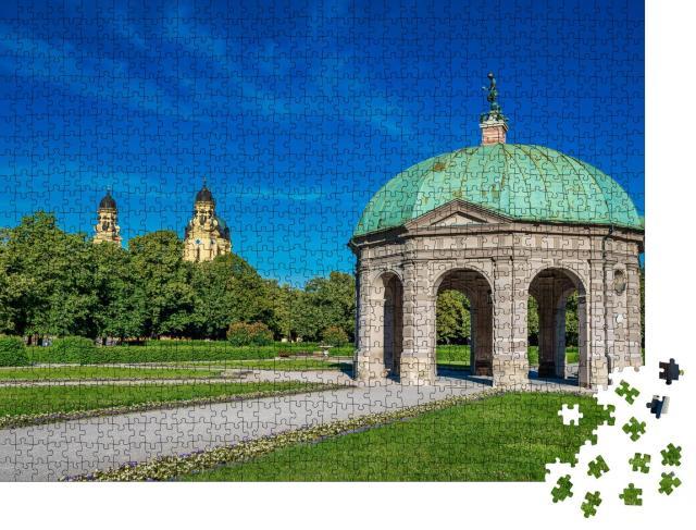"""Puzzle 1000 Teile """"Hofgartenpark mit Dianatempel in München"""""""