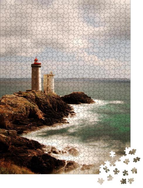 """Puzzle 1000 Teile """"Leuchtturm Pointe du Petit Minou, Bretagne, Frankreich"""""""