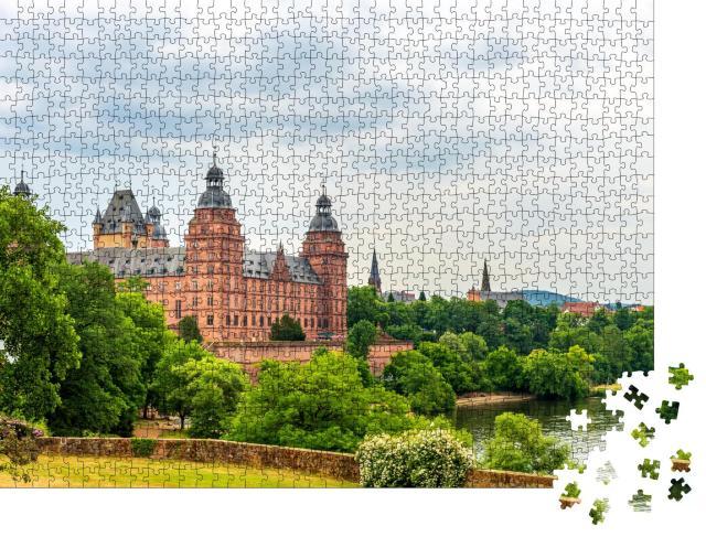 """Puzzle 1000 Teile """"Schloss Johannisburg, Aschaffenburg, Deutschland"""""""