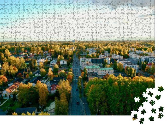 """Puzzle 1000 Teile """"Stimmungsvolle Herbstaufnahme, Korso Vantaa, Finnland"""""""