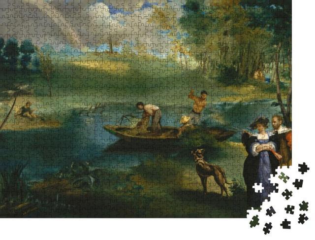 """Puzzle 1000 Teile """"Angeln, Edouard Manet 1862-63"""""""