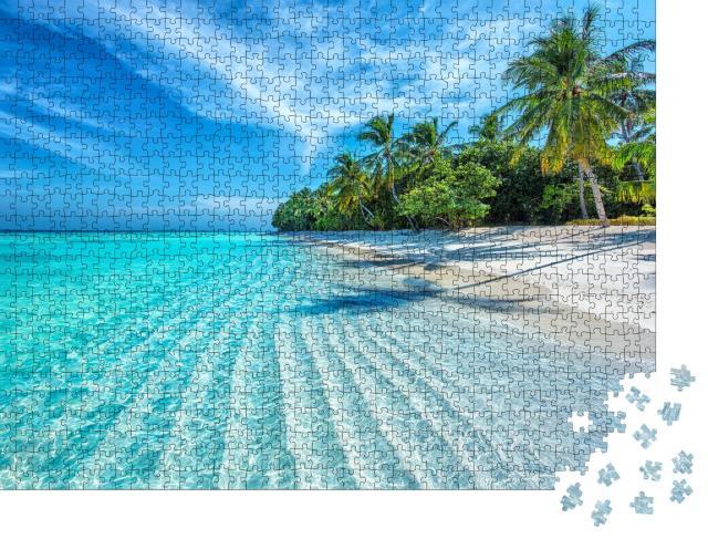 """Puzzle 1000 Teile """"Tropischer Strand auf den Malediven"""""""