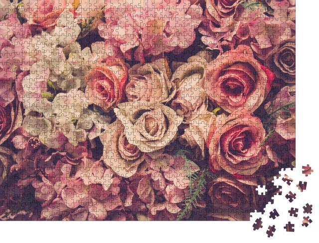 """Puzzle 1000 Teile """"Rosa Rosen"""""""