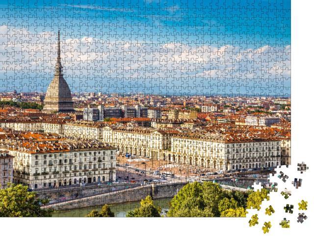 """Puzzle 1000 Teile """"Blick auf das Stadtzentrum von Turin, Italien"""""""