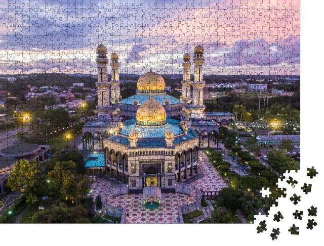 """Puzzle 1000 Teile """"Luftaufnahme der Moschee Jame' Asr Hassanil Bokliah in Brunei"""""""