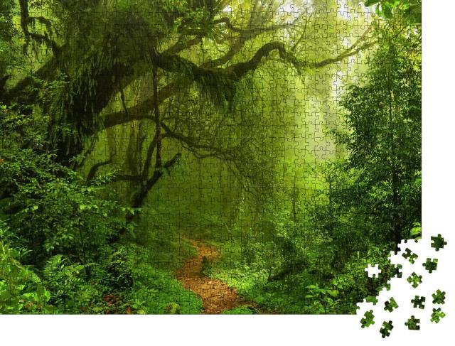 """Puzzle 1000 Teile """"Tiefe tropische Dschungel, Südostasien"""""""