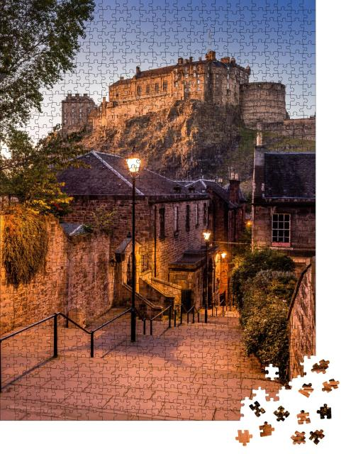 """Puzzle 1000 Teile """"Edinburgh Castle vom Heriot Place aus"""""""