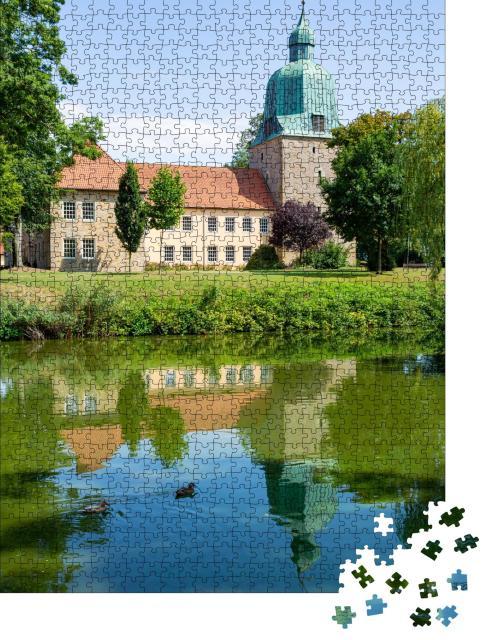 """Puzzle 1000 Teile """"Schloss in Fürstenau, Niedersachsen"""""""