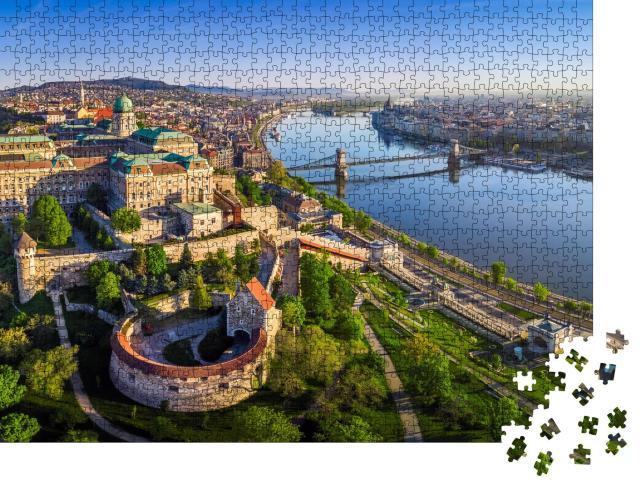 """Puzzle 1000 Teile """"Skyline von Budapest mit Königspalast, Ungarn"""""""