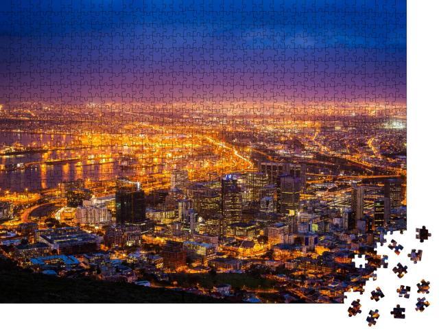 """Puzzle 1000 Teile """"Blick auf Kapstadt am frühen Morgen, Südafrika"""""""