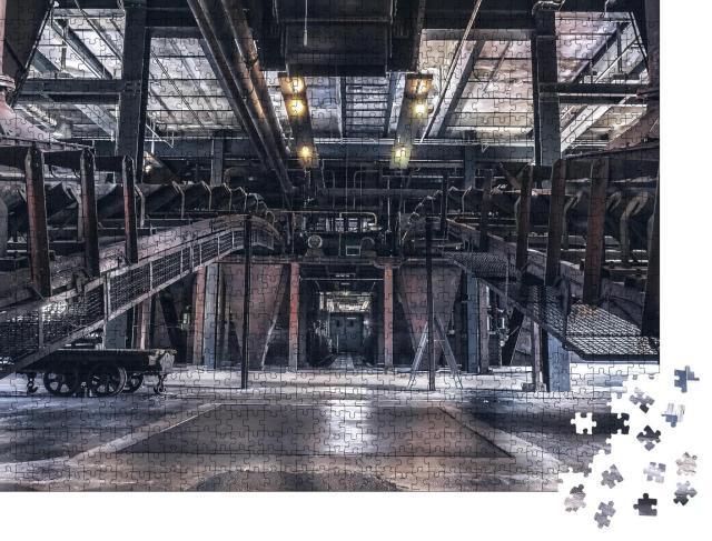 """Puzzle 1000 Teile """"Indoor-Produktionsszene; Weltkulturerbe Zeche Zollverein, Essen, Deutschland"""""""