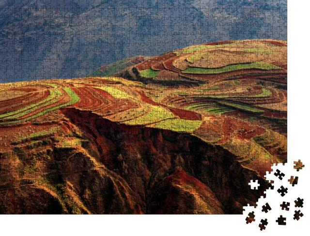 """Puzzle 1000 Teile """"Rote Erde von Dongchuan, Yunnan, China"""""""