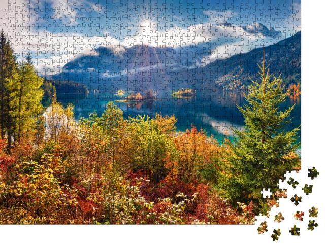 """Puzzle 1000 Teile """"Herbstlandschaft an Eibsee, Deutschland"""""""