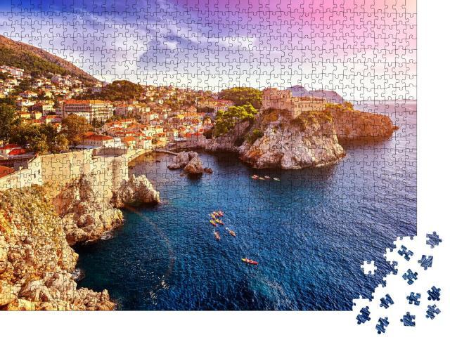 """Puzzle 1000 Teile """"Festungen Lovrijenac und Bokar in Dubrovnik, Kroatien"""""""