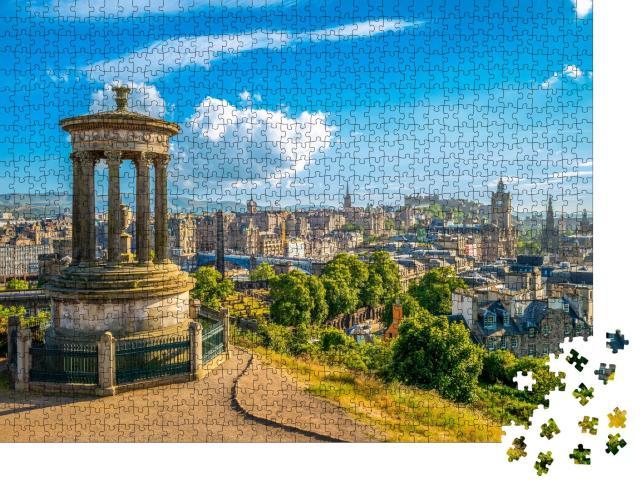 """Puzzle 1000 Teile """"Wunderbarer Blick über Edinburgh, Hauptstadt von Schottland"""""""
