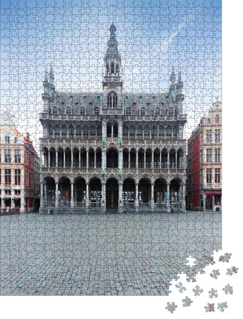 """Puzzle 1000 Teile """"Grand Place in Brüssel: Königshaus oder Maison du Roi"""""""