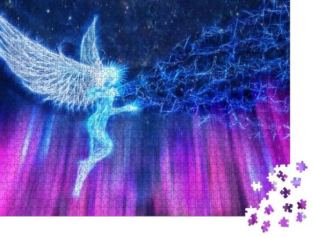 """Puzzle 1000 Teile """"Der Engel sendet die Energie des Guten"""""""
