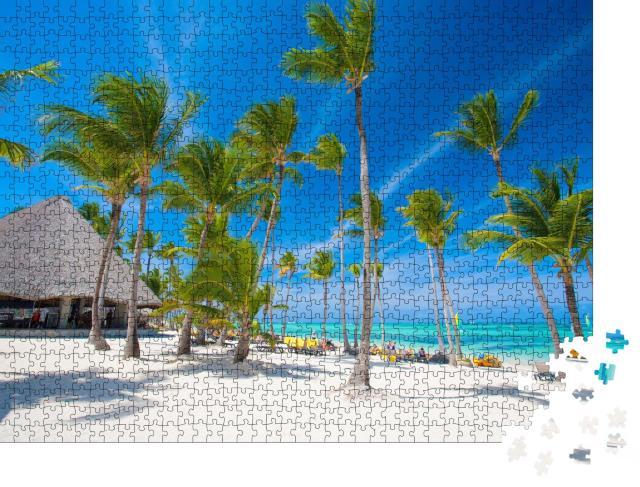 """Puzzle 1000 Teile """"Weißer Strand in der Dominikanischen Republik"""""""