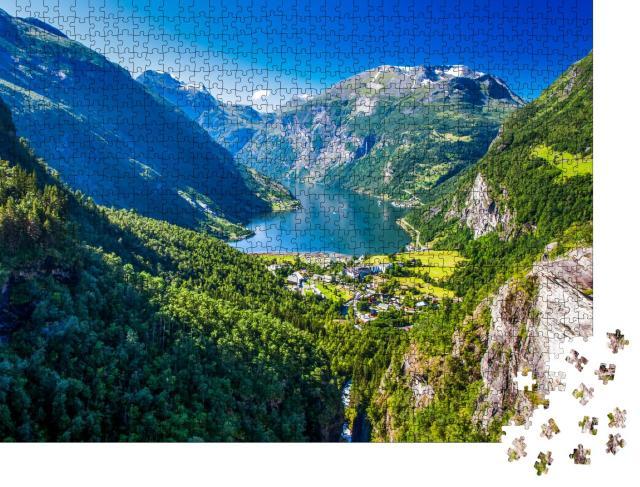 """Puzzle 1000 Teile """"Geirangerfjord in Norwegen"""""""