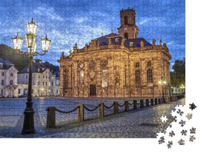 """Puzzle 1000 Teile """"Ludwigskirche - eine evangelische Kirche im Barockstil, Saarbrücken, Deutschland"""""""