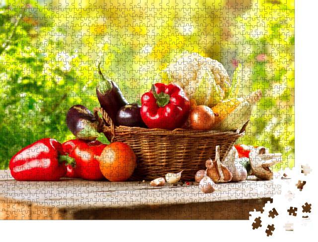"""Puzzle 1000 Teile """"Gemüse im Korb"""""""