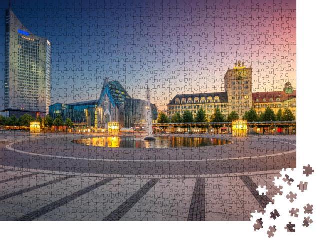 """Puzzle 1000 Teile """"Leipziger Innenstadt bei Sonnenuntergang, Deutschland"""""""