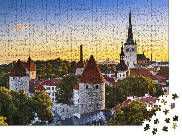 """Puzzle 1000 Teile """"Blick auf die Altstadt von Tallinn, Estland"""""""