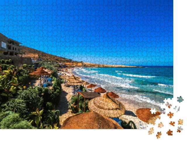 """Puzzle 1000 Teile """"Wunderschöner Strand von Hammamet, Tunesien"""""""