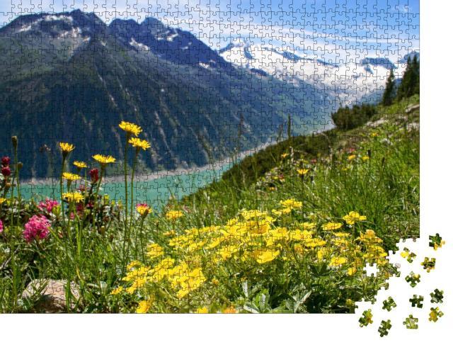 """Puzzle 1000 Teile """"Zillertaler Alpen, Österreich"""""""
