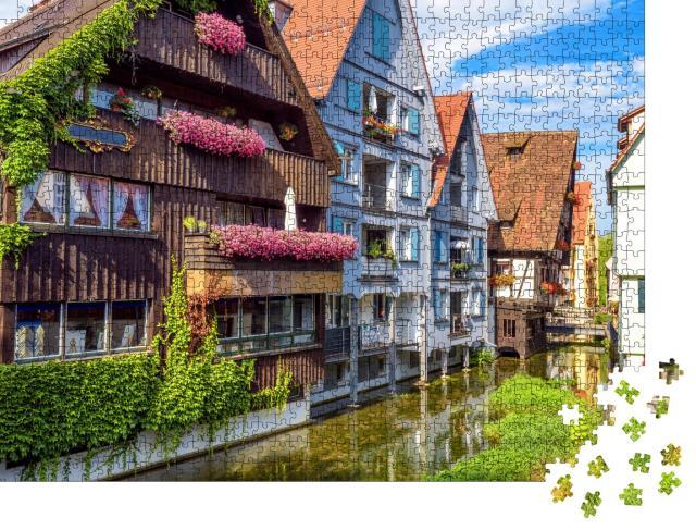 """Puzzle 1000 Teile """"Wunderschönes ales Fischerviertel von Ulm, Deutschland"""""""