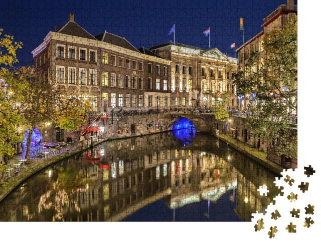 """Puzzle 1000 Teile """"Gracht im historischen Zentrum von Utrecht, Niederlande"""""""