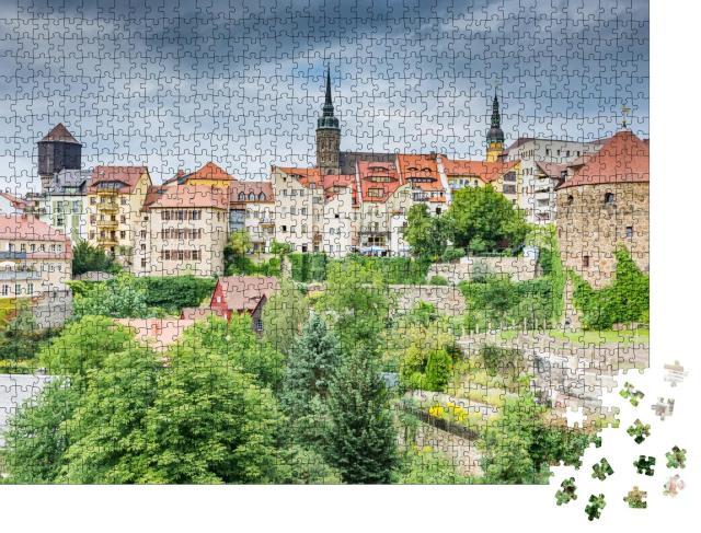 """Puzzle 1000 Teile """"Stadtbild von Bautzen in Sachsen, Deutschland"""""""