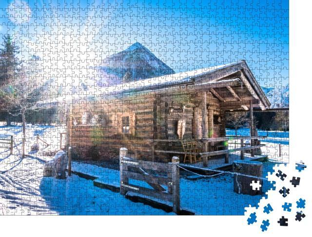 """Puzzle 1000 Teile """"Almhütte im Winter, Pertisau, Österreich"""""""