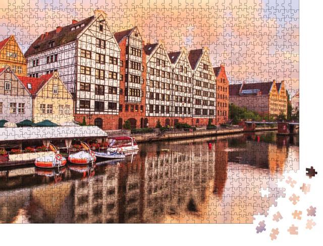 """Puzzle 1000 Teile """"Malerische Altstadt von Danzig, Polen"""""""
