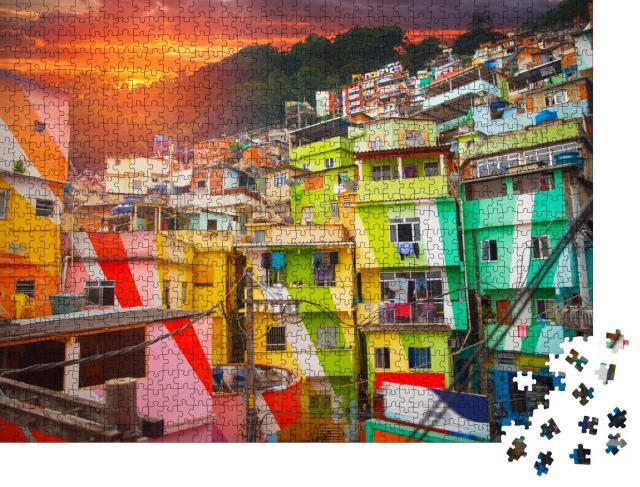 """Puzzle 1000 Teile """"Rio de Janeiro: Innenstadt und Favela, Brasilien"""""""
