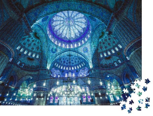 """Puzzle 1000 Teile """"Das Innere der Blauen Moschee, Istanbul, Türkei"""""""