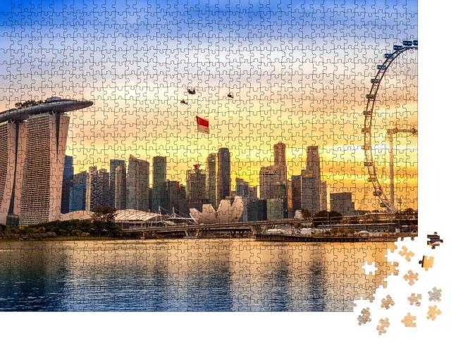 """Puzzle 1000 Teile """"Nationalfeiertag in Singapur"""""""