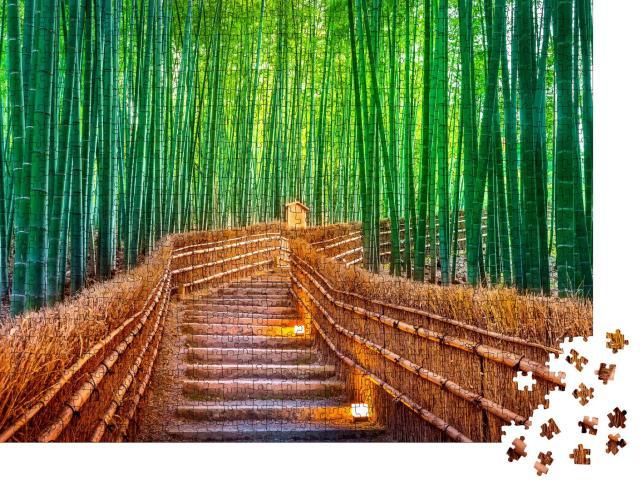 """Puzzle 1000 Teile """"Mystischer Bambuswald in Kyoto, Japan"""""""