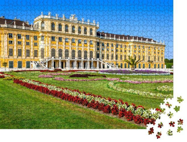"""Puzzle 1000 Teile """"Schloss Schönbrunn in Wien, ehemalige kaiserliche Sommerresidenz"""""""