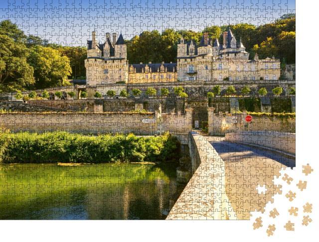 """Puzzle 1000 Teile """"Chateau d'Usse, Loire-Tal, Frankreich"""""""