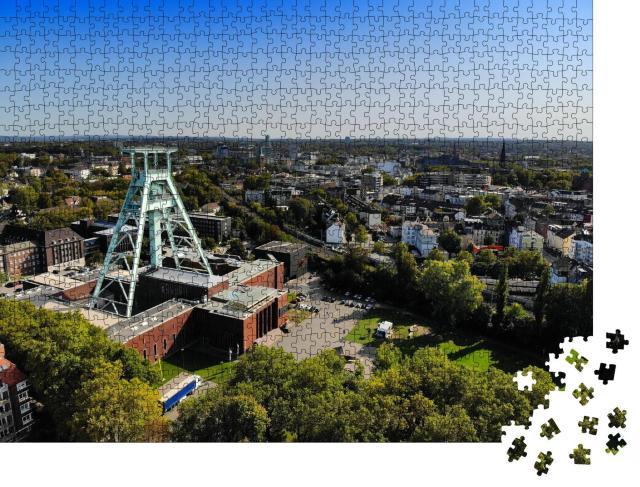 """Puzzle 1000 Teile """"Stadt Bochum mit Bergbaumuseum, Deutschland"""""""