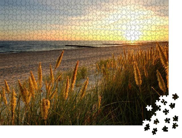 """Puzzle 1000 Teile """"Ostsee, Dünen an einem Sandstrand, Kolobrzeg, Polen"""""""
