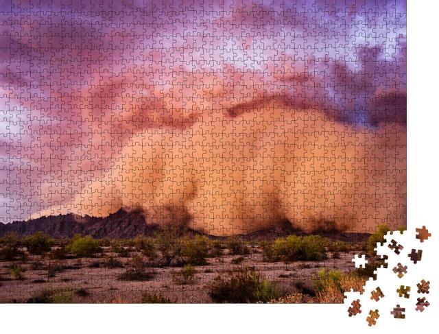 """Puzzle 1000 Teile """"Staubsturm Haboob in der Wüste von Arizona"""""""
