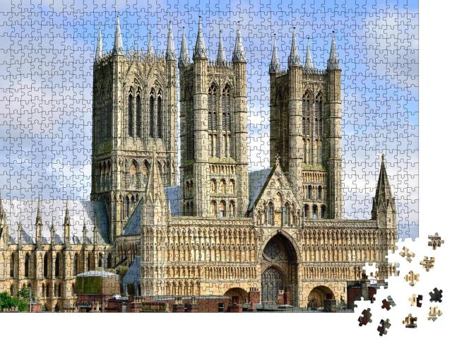 """Puzzle 1000 Teile """"Kathedrale von Lincoln in England"""""""