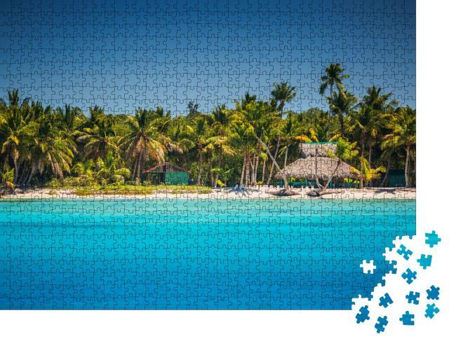 """Puzzle 1000 Teile """"Karibischer Strand, Punta Cana"""""""